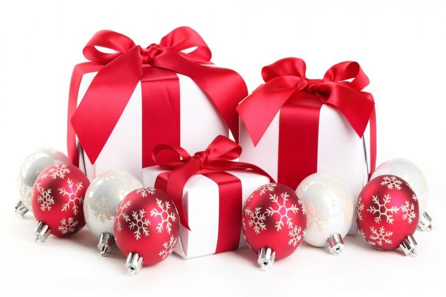 Regalos envueltos para la Navidad