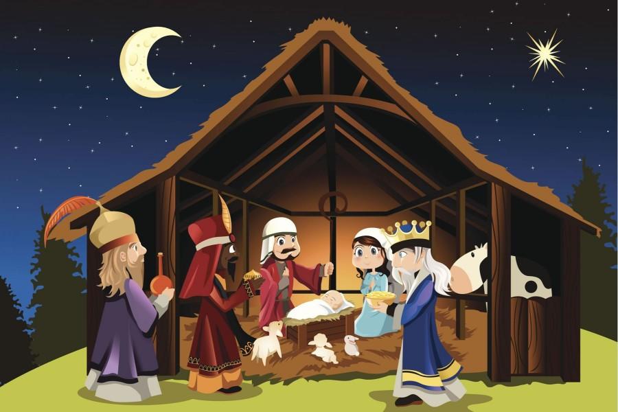 Representación del nacimiento de Jesús