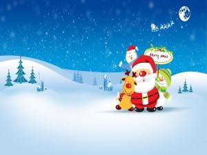 Santa Claus y su reno favorito, Rudolph