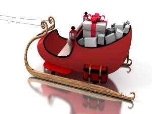 El trineo de Papá Noel