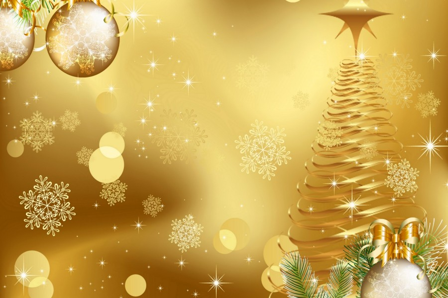 Fondos Navidad Animados: Navidad Dorada (80641