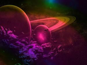 Planetas rodeados de asteroides