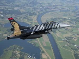 Avión militar F-16