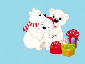 Ositos junto a regalos