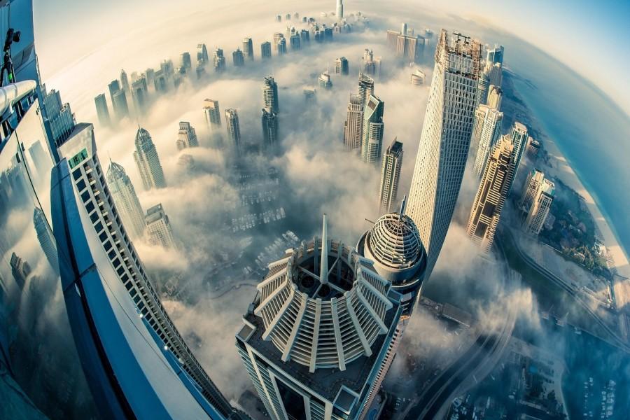 El cielo de Dubai