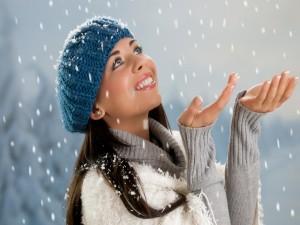 Admirando cómo cae la nieve