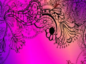 Dibujos con flores y mariposas