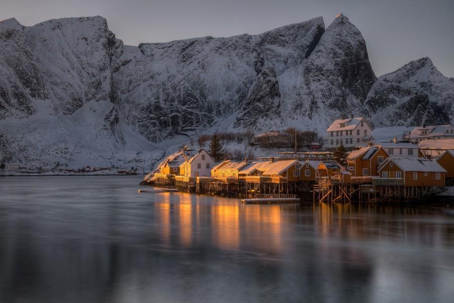 A la hora del crepúsculo, en Noruega