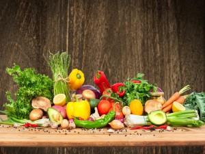 Saludables vegetales frescos