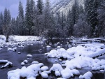 Rocas bajo la nieve