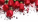 Rosas y corazones